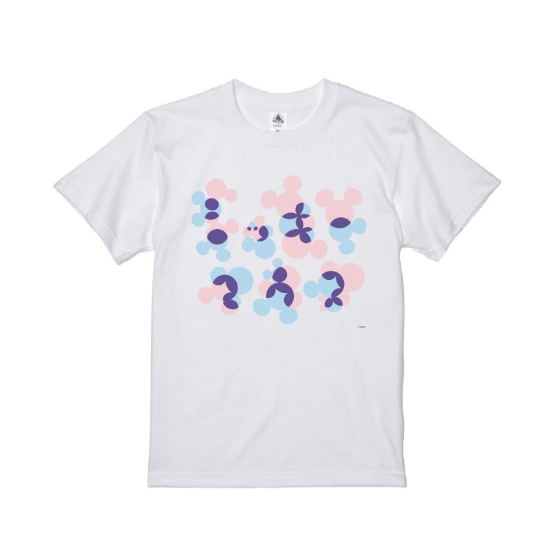【D-Made】Tシャツ ミッキー アイコンパターン ピンク&ブルー KATAKANA