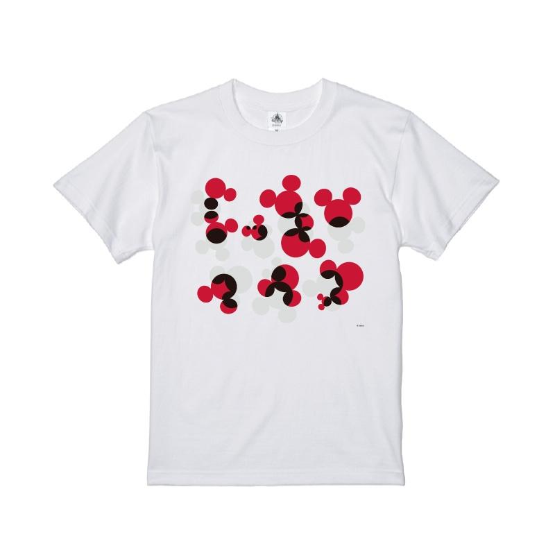 【D-Made】Tシャツ ミッキー アイコンパターン レッド&グレー KATAKANA