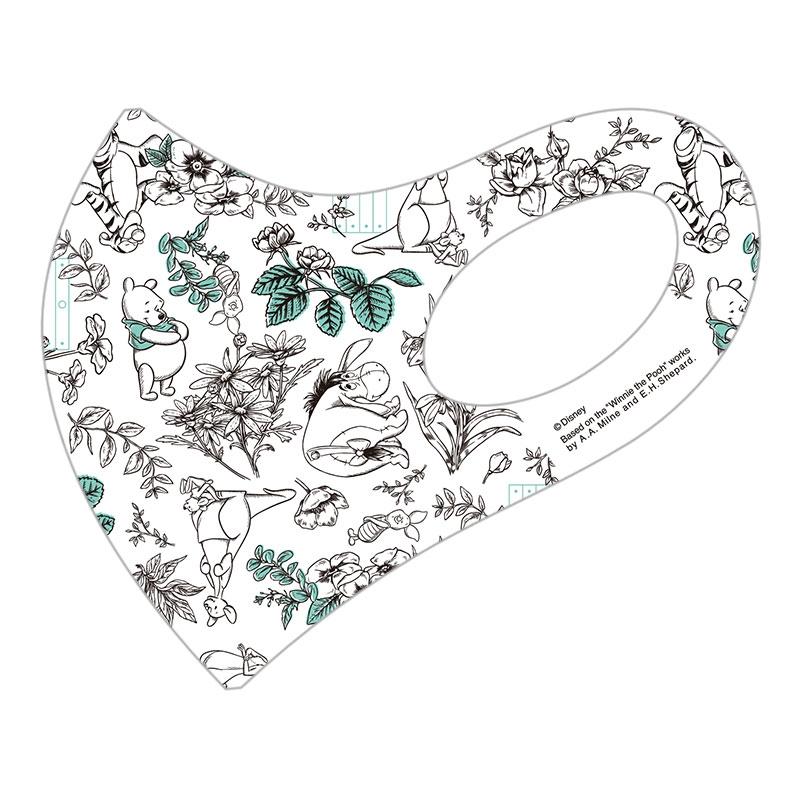 【D-Made】マスク 総柄 くまのプーさん ボタニカル