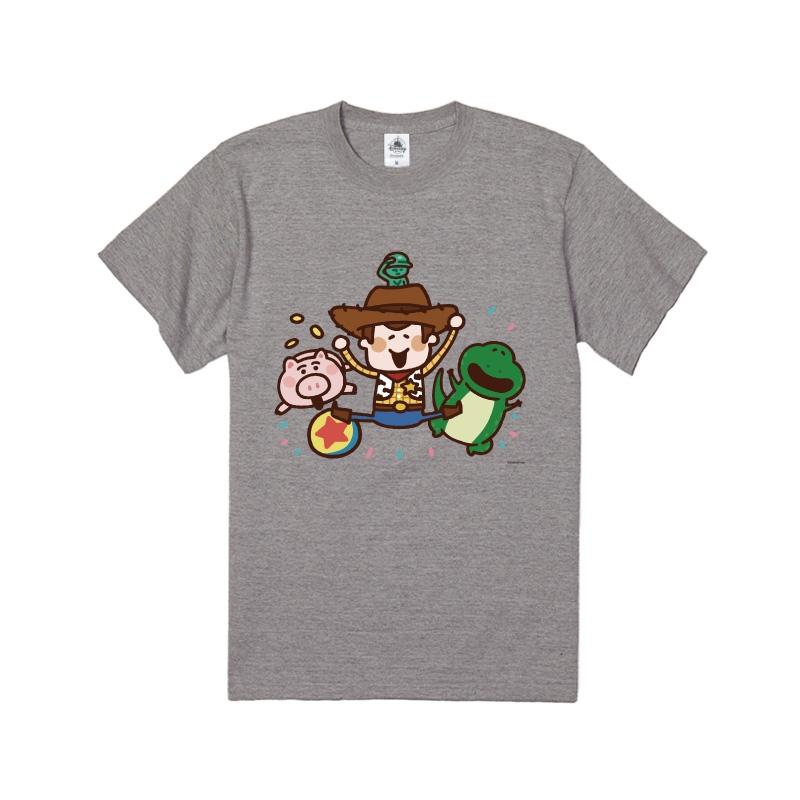 【D-Made】Tシャツ カナヘイ画♪WE LOVE PIXAR ウッディ&ハム&レックス&グリーンアーミーメン