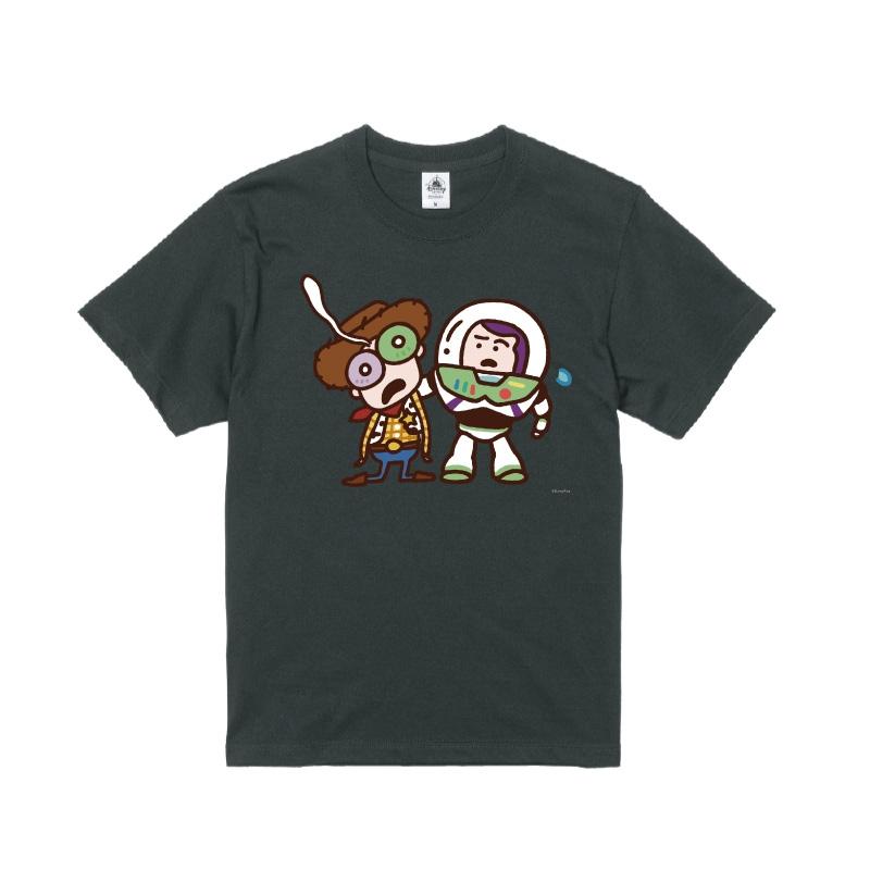 【D-Made】Tシャツ カナヘイ画♪WE LOVE PIXAR ウッディ&バズ・ライトイヤー