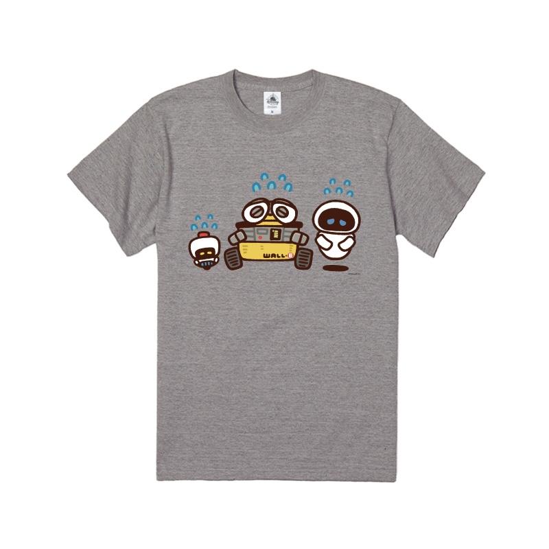 【D-Made】Tシャツ カナヘイ画♪WE LOVE PIXAR ウォーリー&イヴ&モー