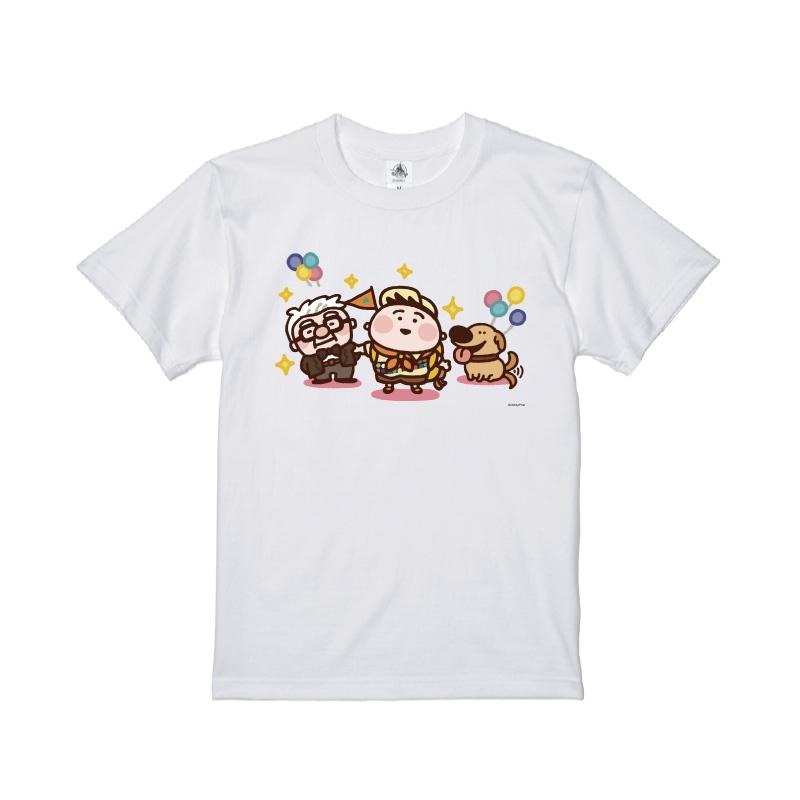 【D-Made】Tシャツ カナヘイ画♪WE LOVE PIXAR カール・フレドリクセン&ラッセル・キム&ダグ