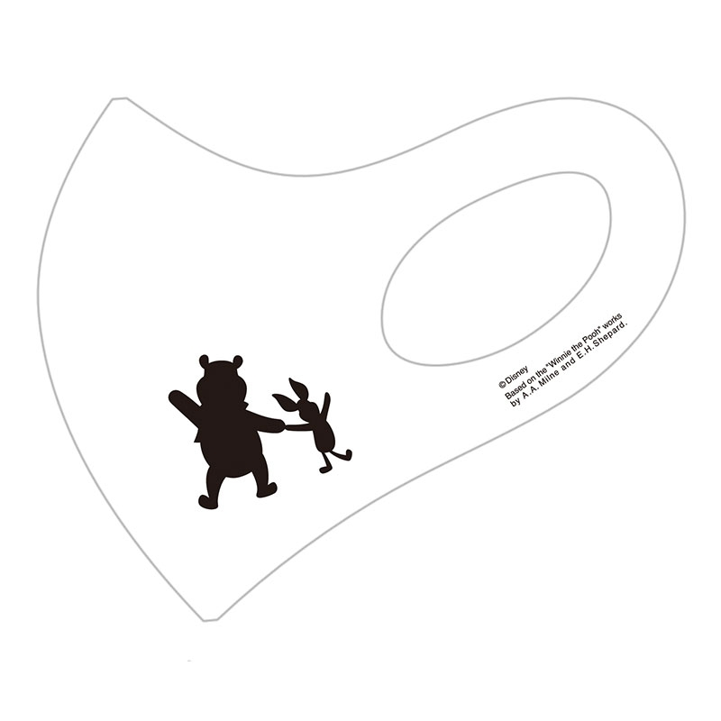 【D-Made】マスク  くまのプーさん プーさん&ピグレット シルエット