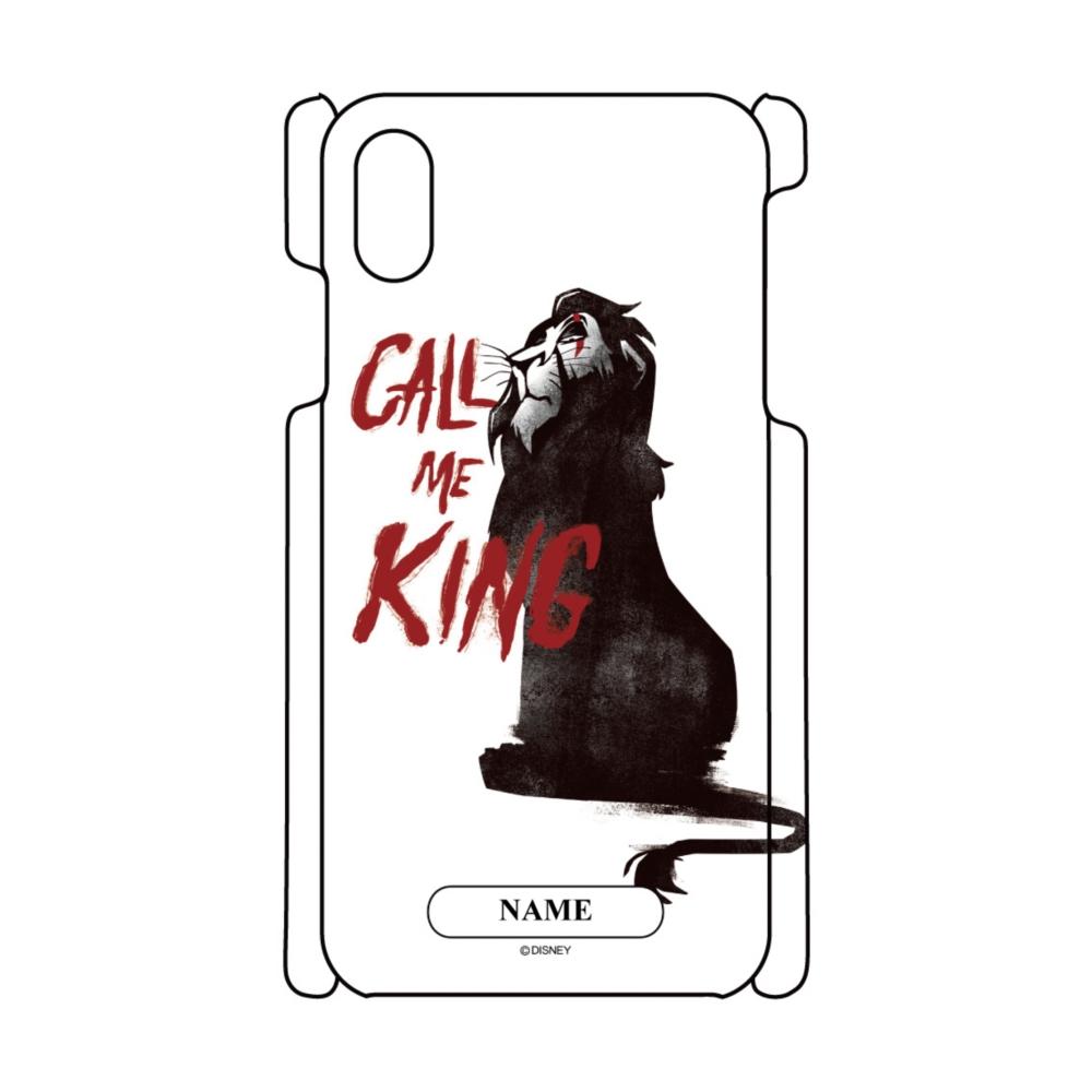 【D-Made】名入れ iPhoneケース ライオン・キング スカー CALL ME KING ヴィランズ