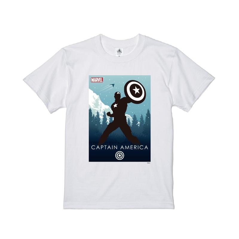 【D-Made】Tシャツ MARVEL キャプテン・アメリカ HEROシルエット