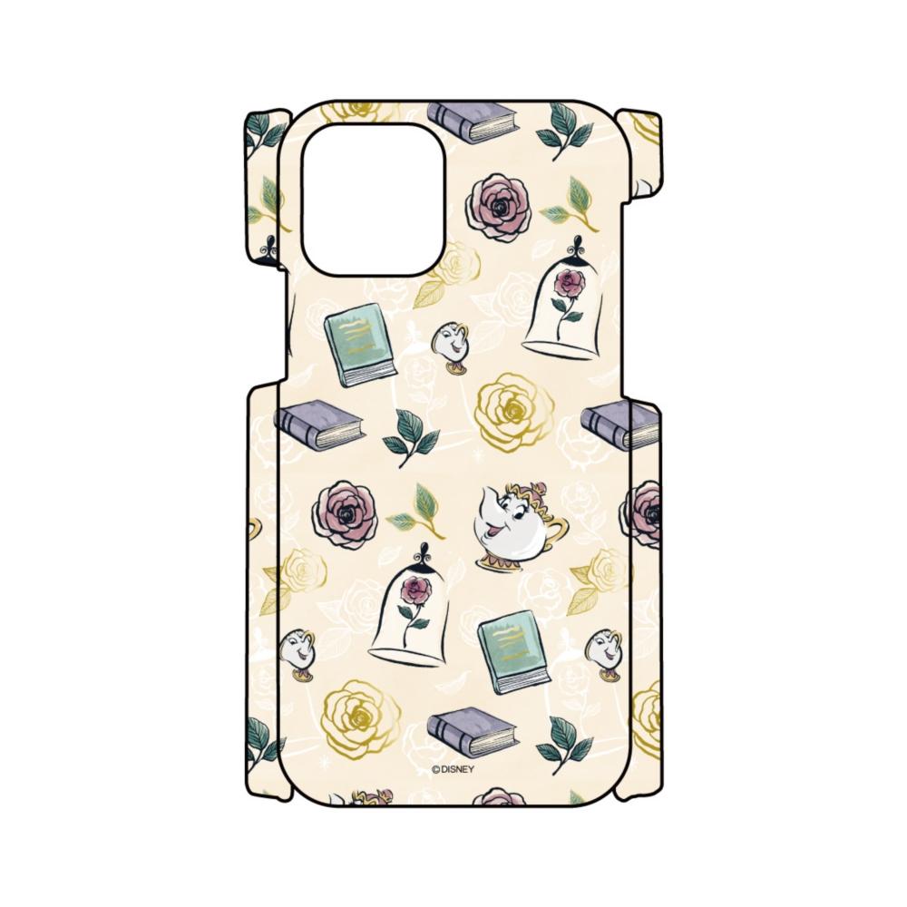 【D-Made】iPhoneケース 総柄 美女と野獣 ポット夫人&チップ 魔法のバラ