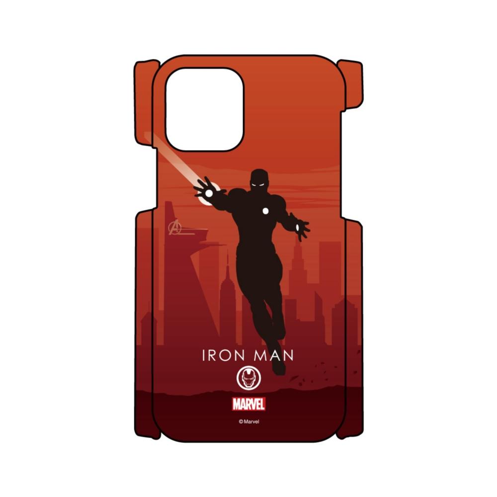 【D-Made】iPhoneケース MARVEL アイアンマン HEROシルエット