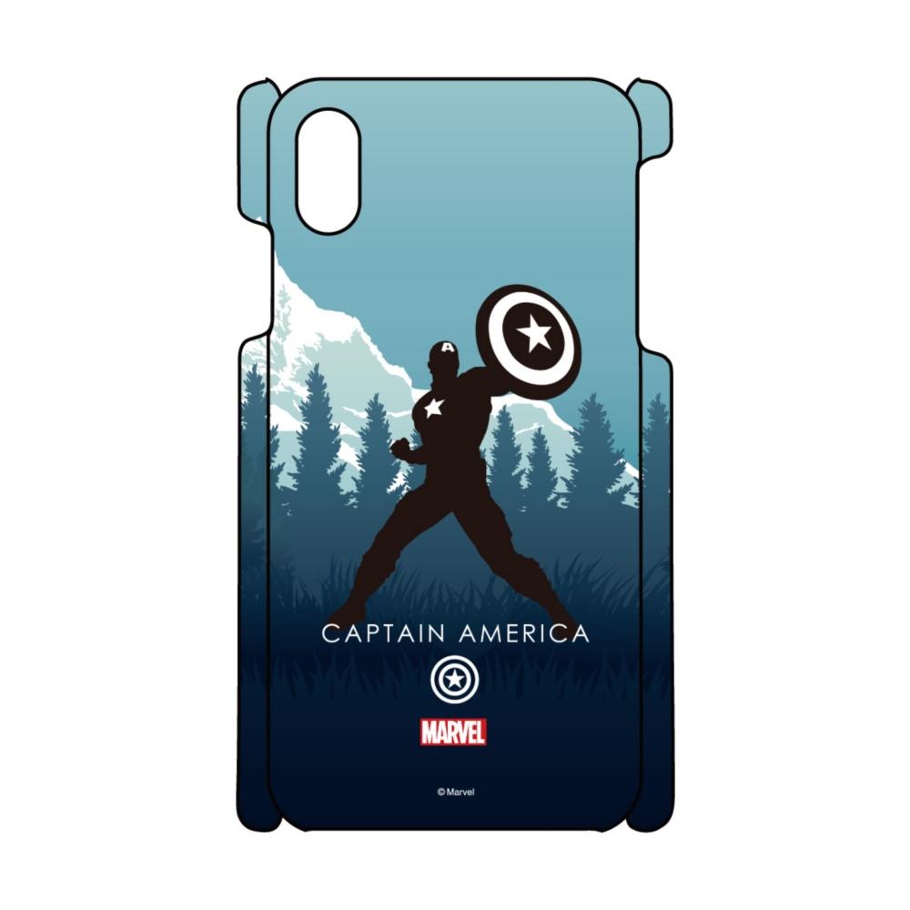 【D-Made】iPhoneケース MARVEL キャプテン・アメリカ HEROシルエット