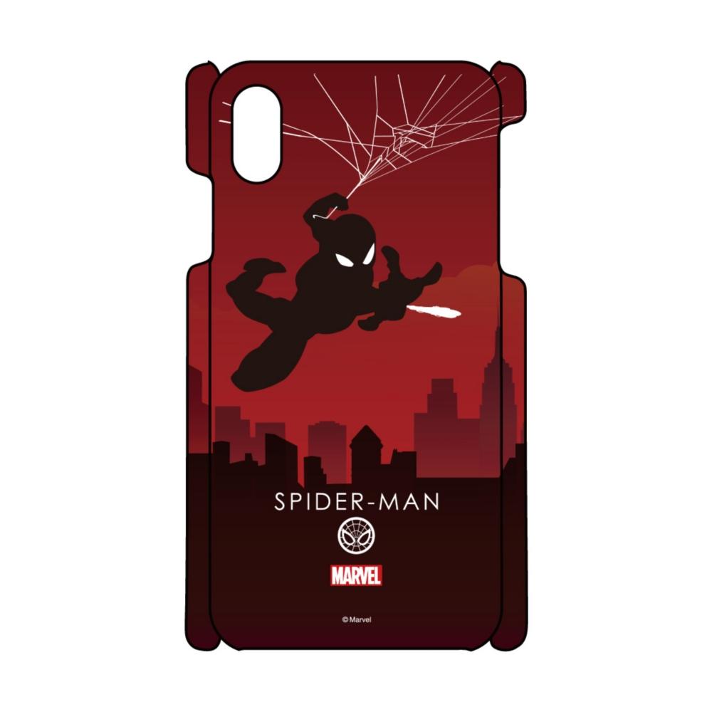 【D-Made】iPhoneケース MARVEL スパイダーマン HEROシルエット