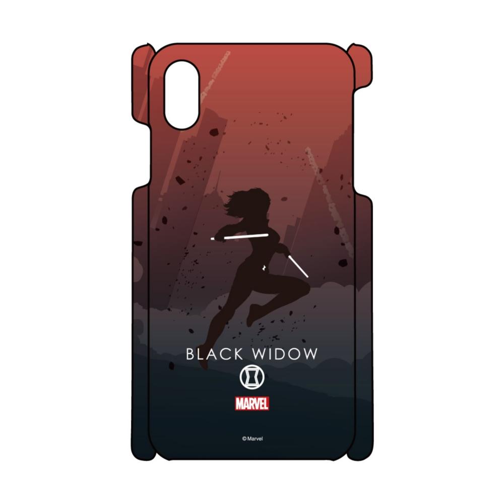 【D-Made】iPhoneケース MARVEL ブラック・ウィドウ HEROシルエット