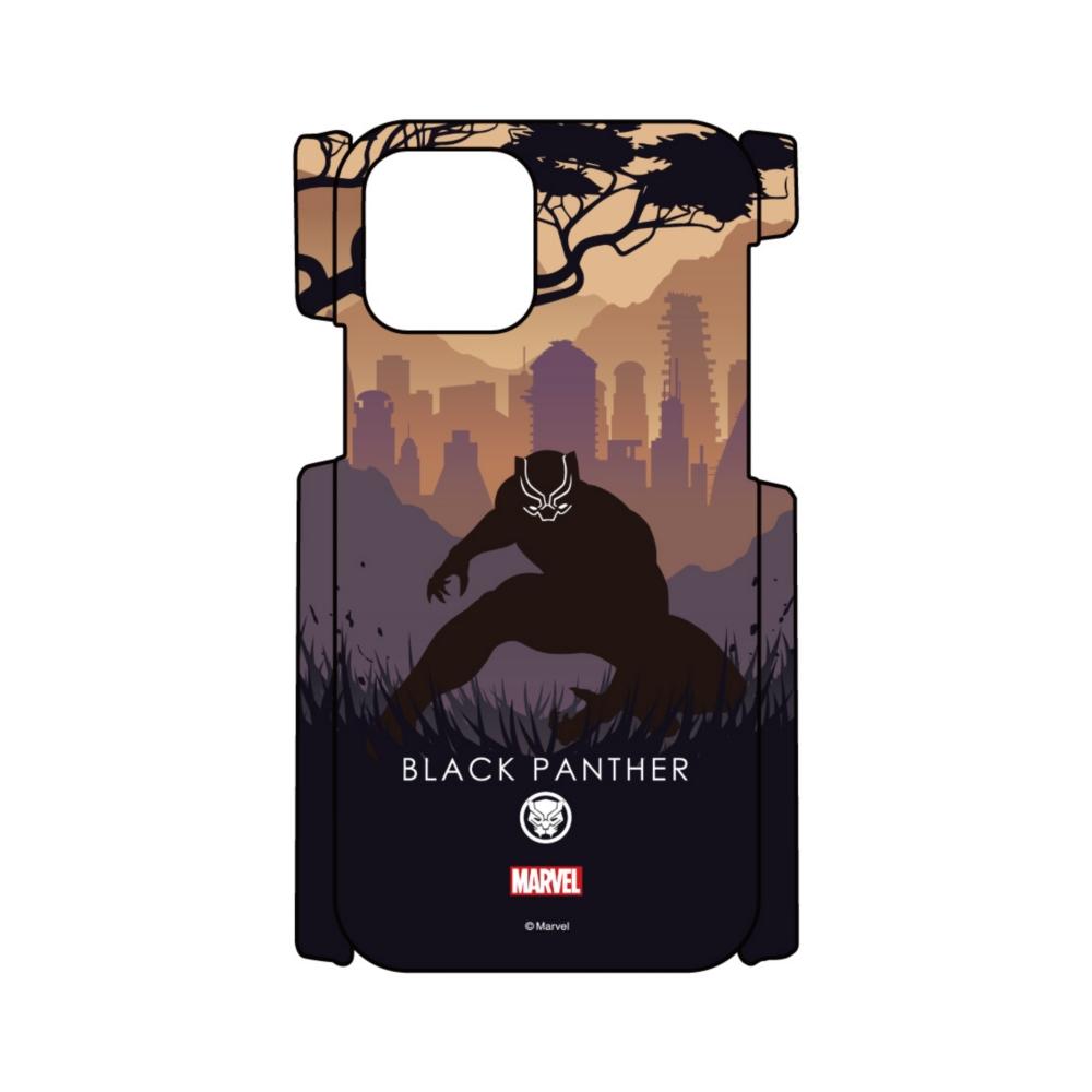 【D-Made】iPhoneケース MARVEL ブラックパンサー HEROシルエット