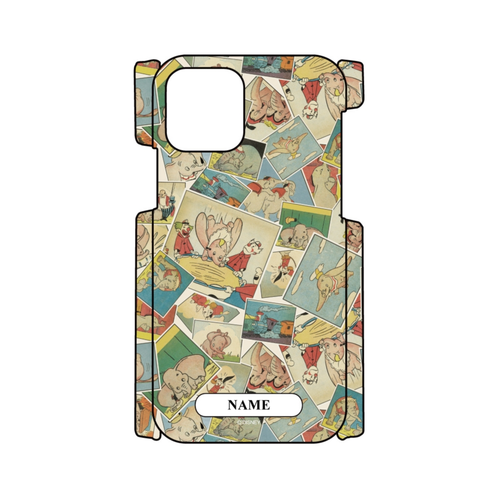 【D-Made】名入れ iPhoneケース 総柄 ダンボ コミック Dumbo 80