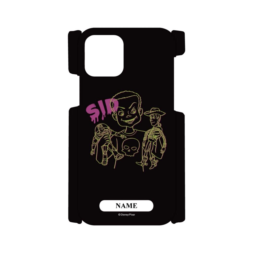 【D-Made】名入れ iPhoneケース トイ・ストーリー シド&ウッディ&バズ・ライトイヤー ネオン SID