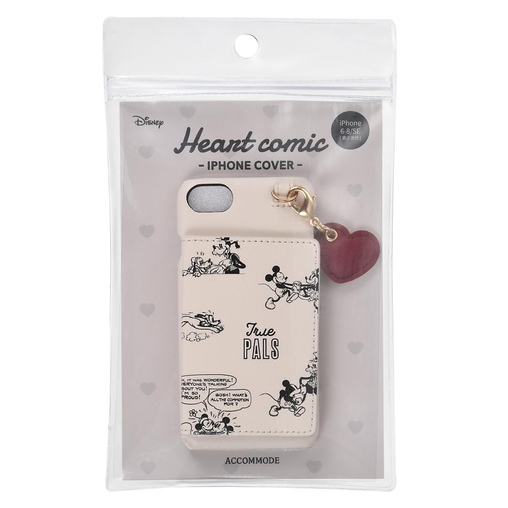 【ACCOMMODE】 ミッキー&フレンズ iPhone 6/7/8/SE(第2世代)用スマホケース・カバー ハートコミック