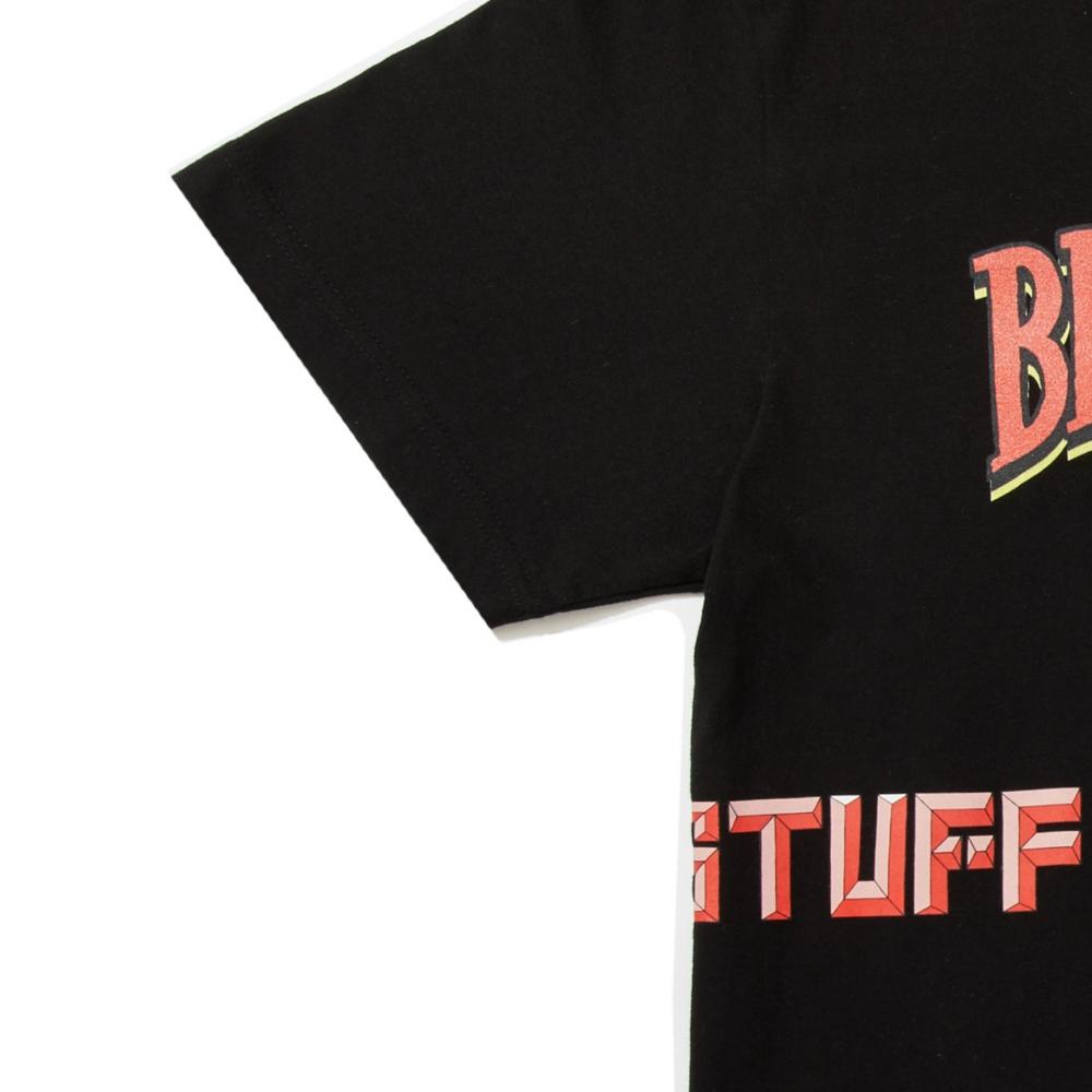 【BEAMS】 FLAGSTUFF S/S TEE① BLACK