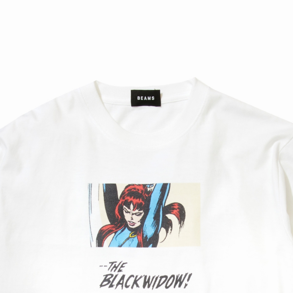 【BEAMS】 FLAGSTUFF L/S TEE WHITE