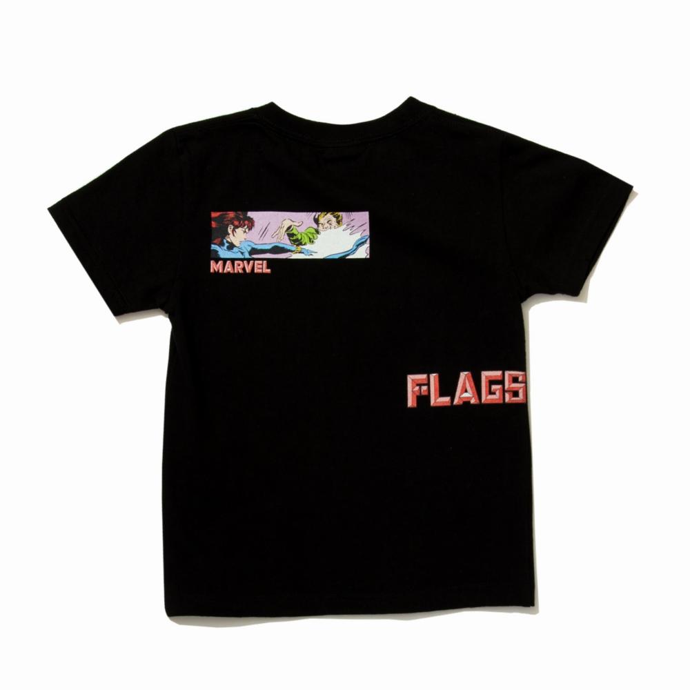 【BEAMS】 FLAGSTUFF S/S KIDS TEE BLACK