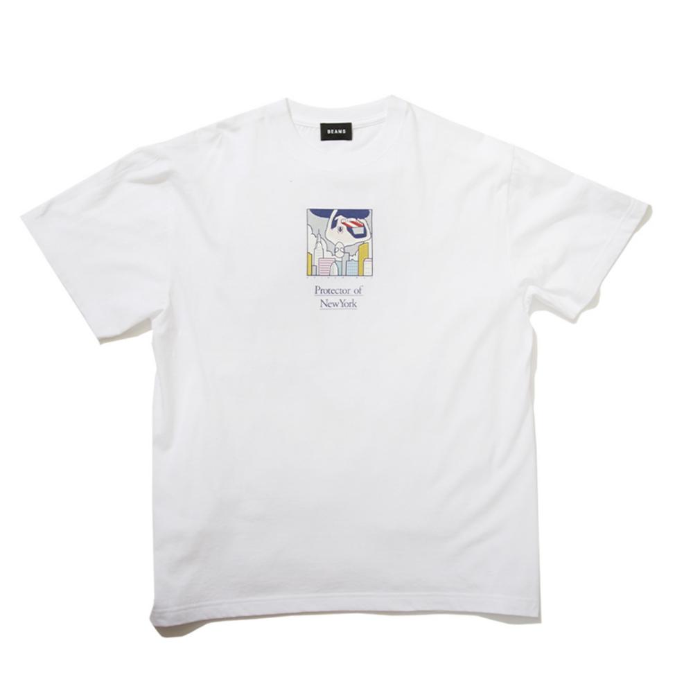 【BEAMS】   金安 亮 S/S TEE② WHITE