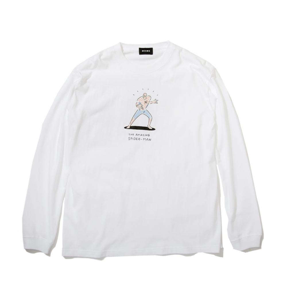 【BEAMS】   金安 亮 L/S TEE WHITE