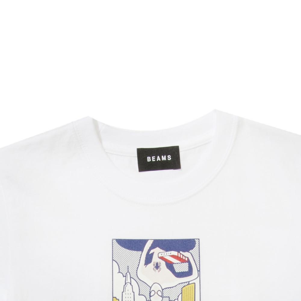 【BEAMS】   金安 亮 S/S KIDS TEE WHITE
