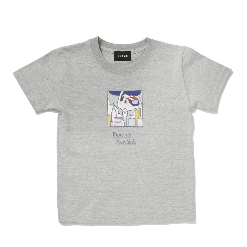 【BEAMS】   金安 亮 S/S KIDS TEE MIX GRAY