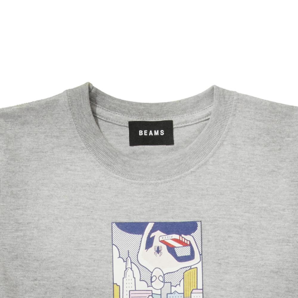 【BEAMS】   金安 亮 S/S KIDS TEE MIX GRAY