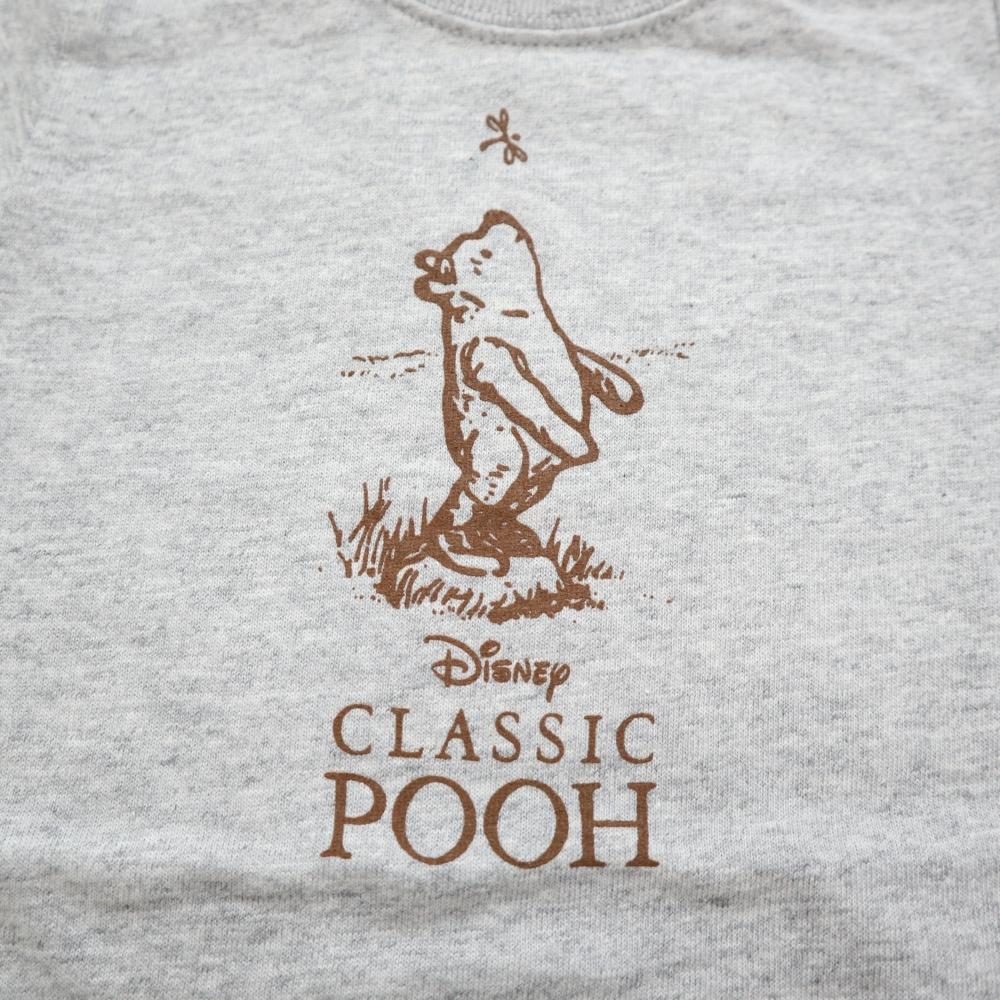 クラシックプーC100Tシャツ (グレー)