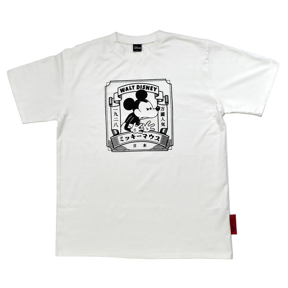 ミッキー日本限定アートTシャツ(ホワイト)