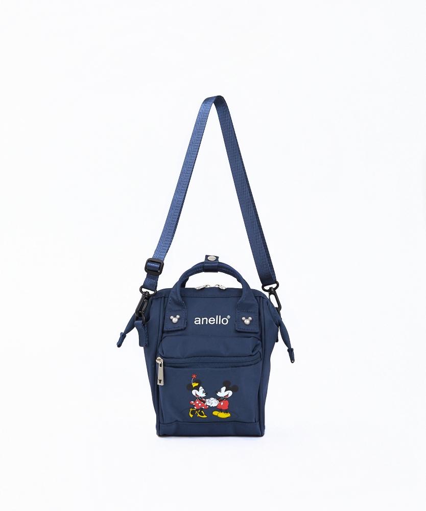 【anello】ミッキー&ミニー 口金2WAY ショルダーバッグ