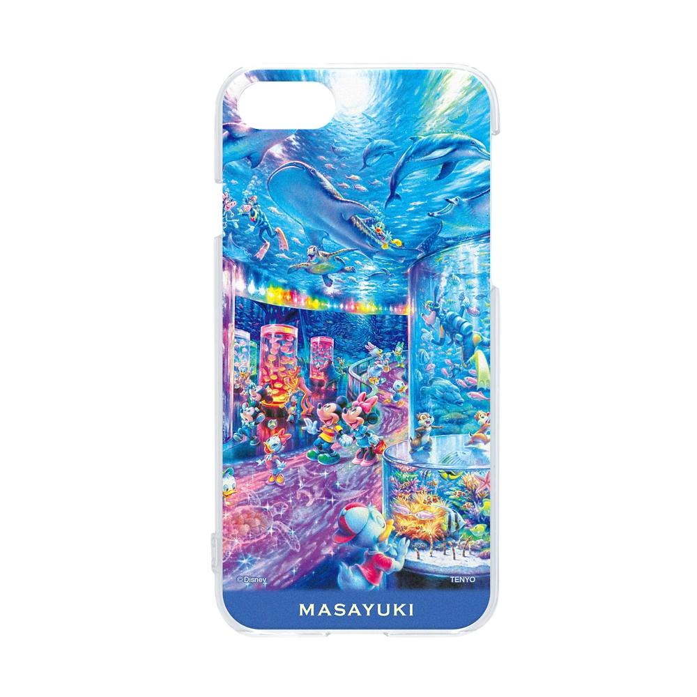 【名入れ料と送料無料】<br>名入れ スマホケース・カバー  iPhone専用 「ナイト アクアリウム」