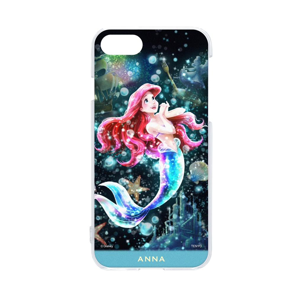 【名入れ料と送料無料】名入れ スマホケース・カバー  iPhone専用 「輝く憧れの世界(アリエル)」