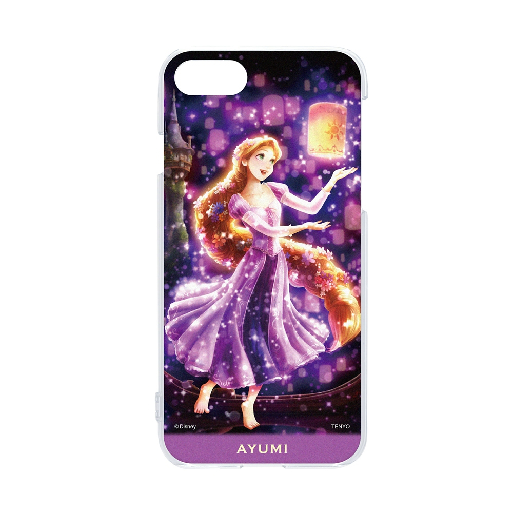 【名入れ料と送料無料】名入れ スマホケース・カバー  iPhone専用 「夜空に灯る夢(ラプンツェル)」