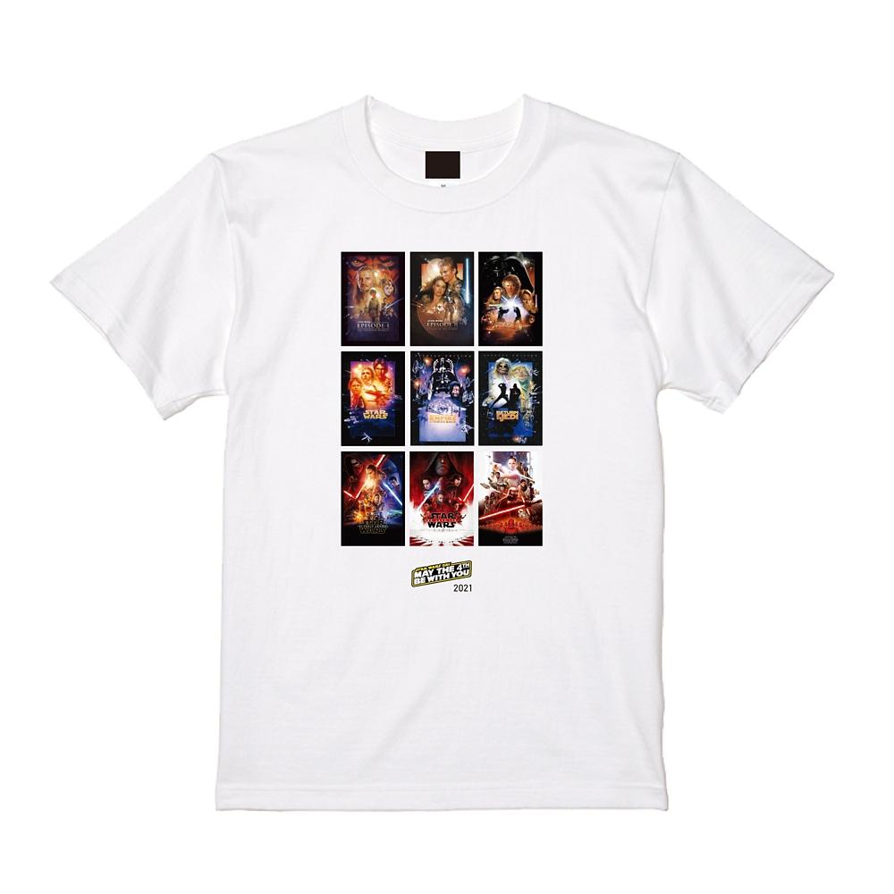【MAY THE 4TH 限定デザイン】 【予約商品】スター・ウォーズ ポスターホワイトTシャツ