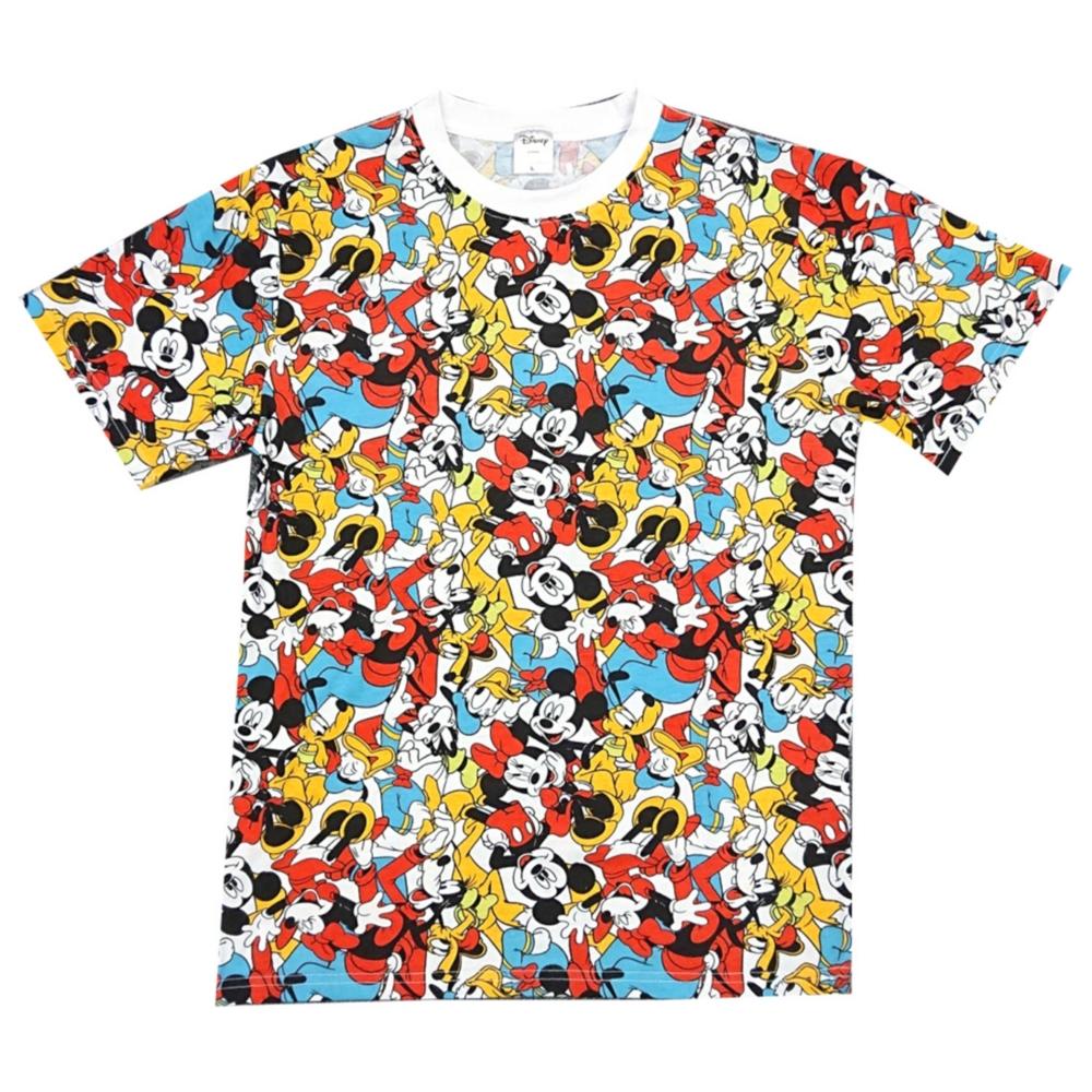 ディズニー ミッキーマウス&フレンズ ぎっしり 総柄Tシャツ
