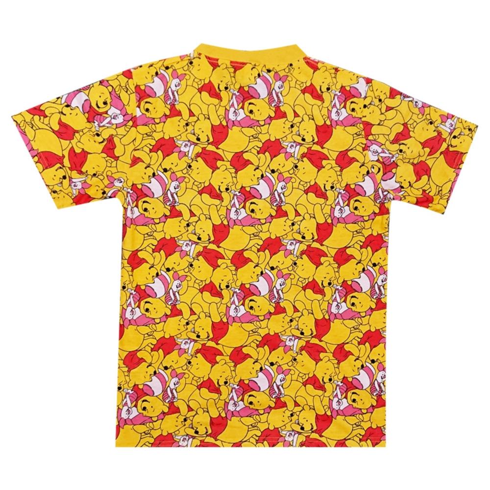 ディズニー くまのプーさん ぎっしり 総柄Tシャツ