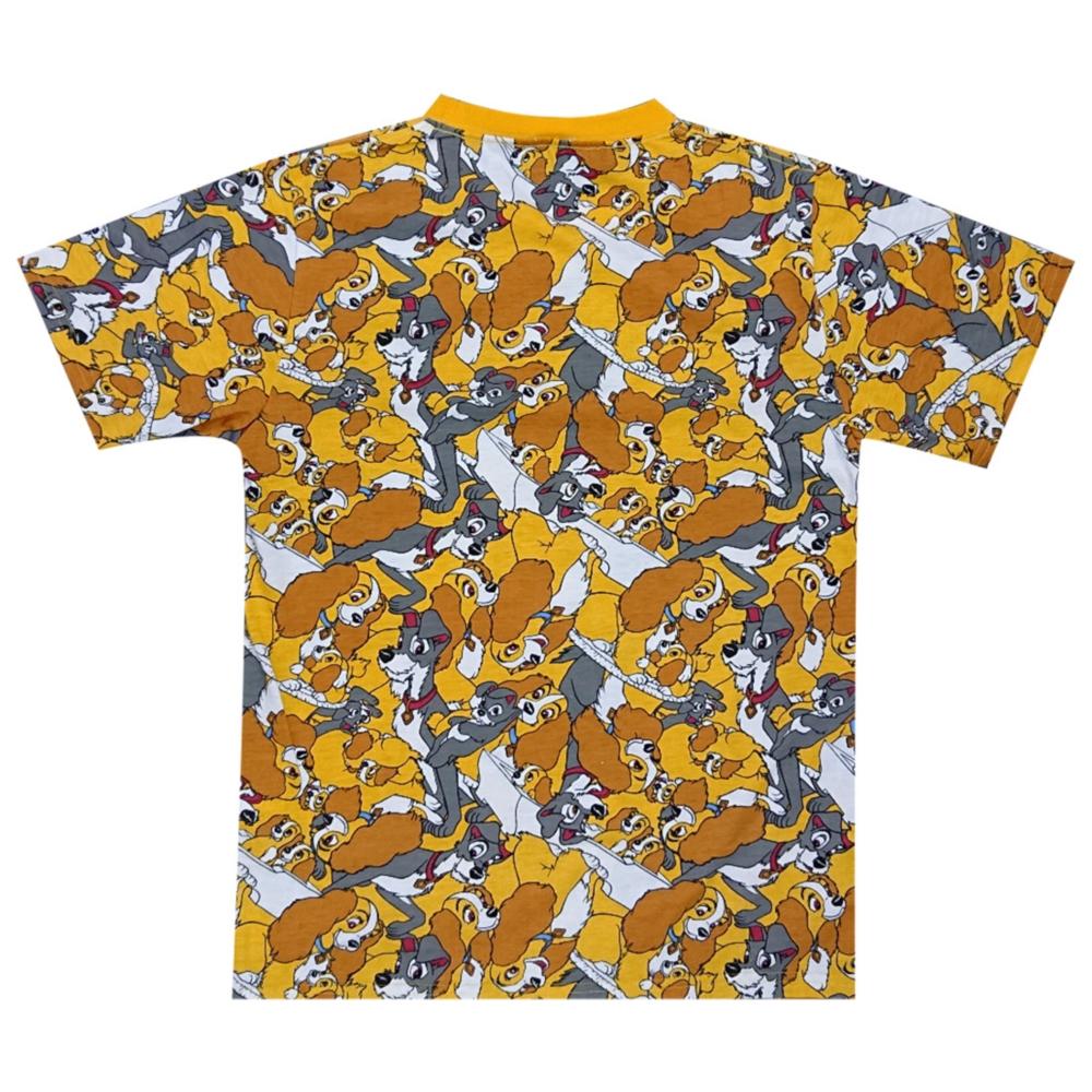 ディズニー わんわん物語 ぎっしり 総柄Tシャツ