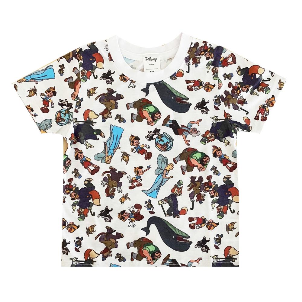 ディズニー ピノキオ 総柄プリント KIDS Tシャツ
