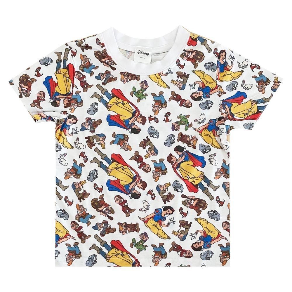 ディズニー 白雪姫 総柄プリント KIDS Tシャツ