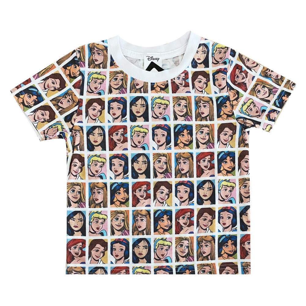ディズニー プリンセス 総柄プリント KIDS Tシャツ