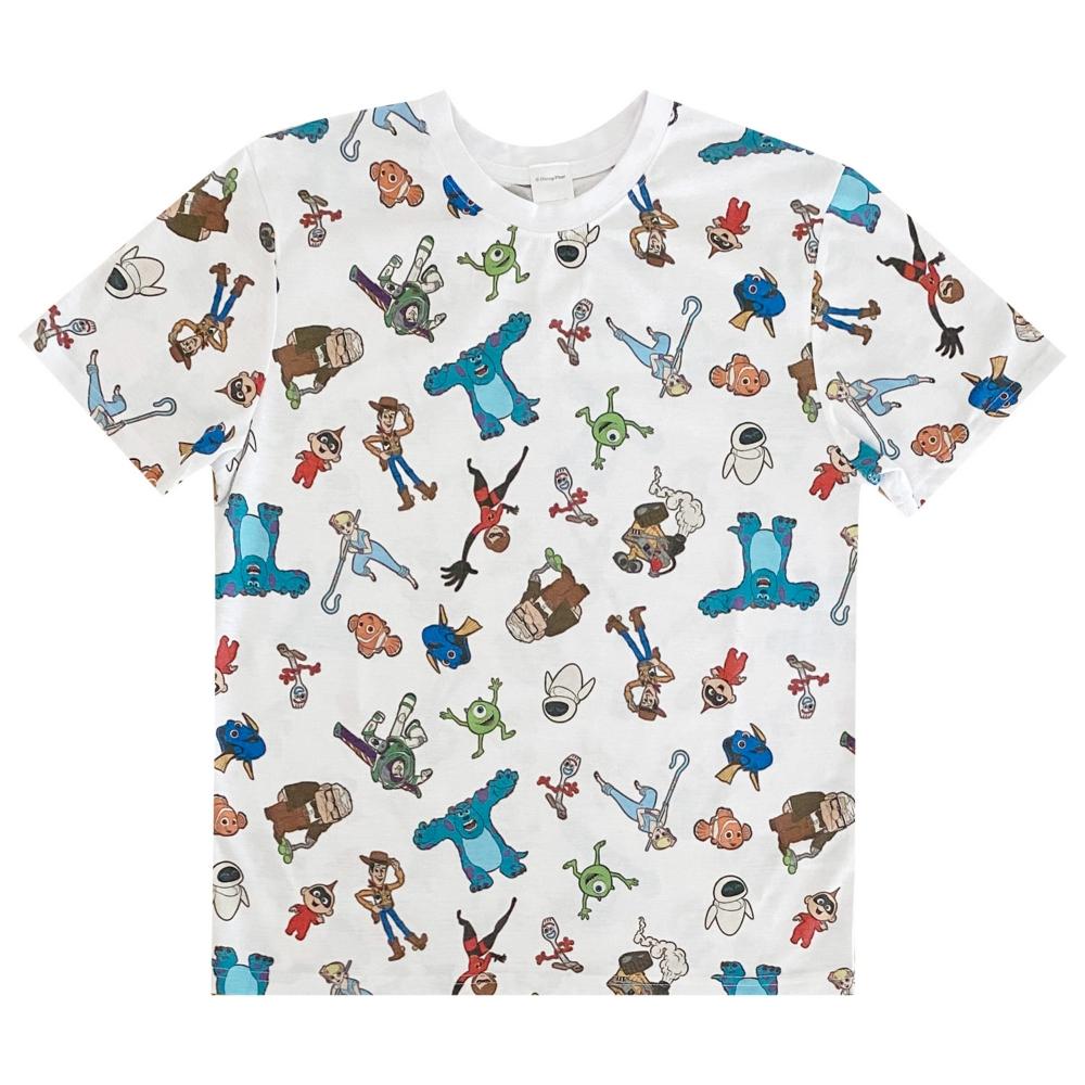 ピクサーパターン 総柄プリントTシャツ