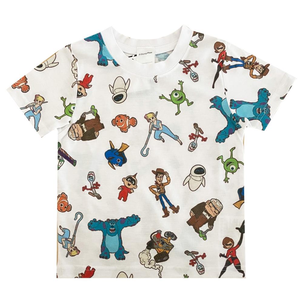 ピクサー 総柄プリント KIDS Tシャツ