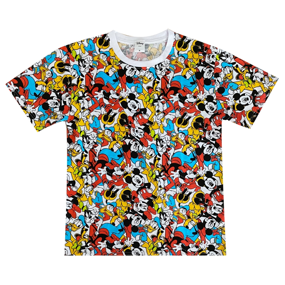 ディズニー ミッキーマウス&フレンズ 総柄ぎっしり Tシャツ