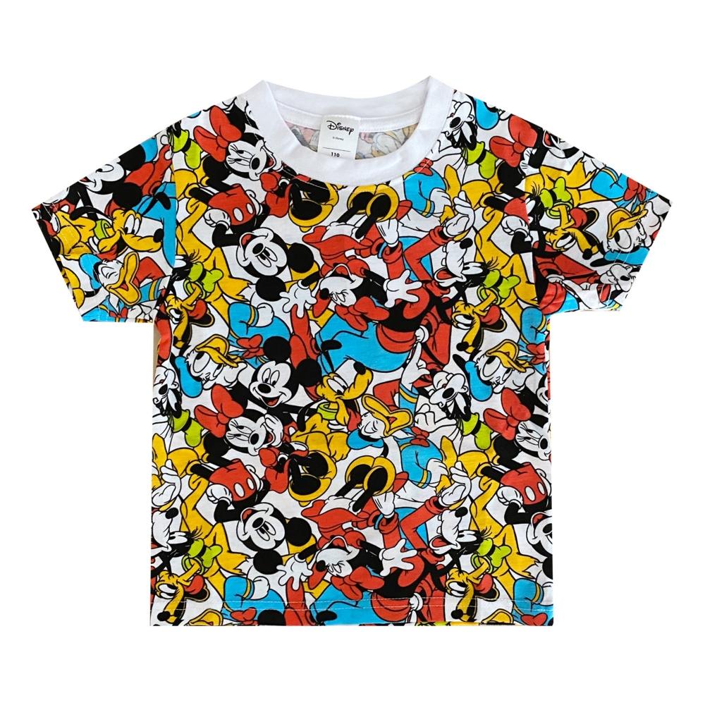 ディズニー ミッキーマウス&フレンズ 総柄プリント KIDS Tシャツ (ぎっしり)