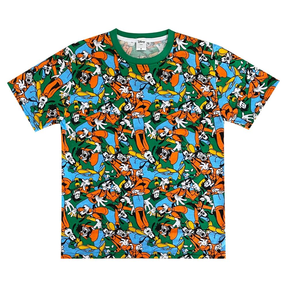 ディズニー グーフィー マックス 総柄ぎっしり Tシャツ