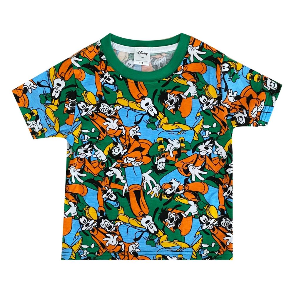 ディズニー グーフィー / マックス 総柄プリント KIDS Tシャツ (ぎっしり)