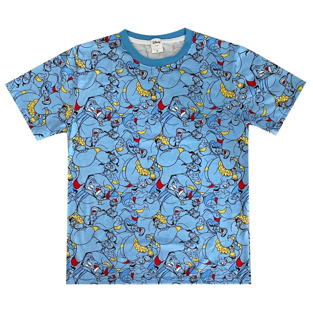 ディズニー ジーニー 総柄ぎっしり Tシャツ