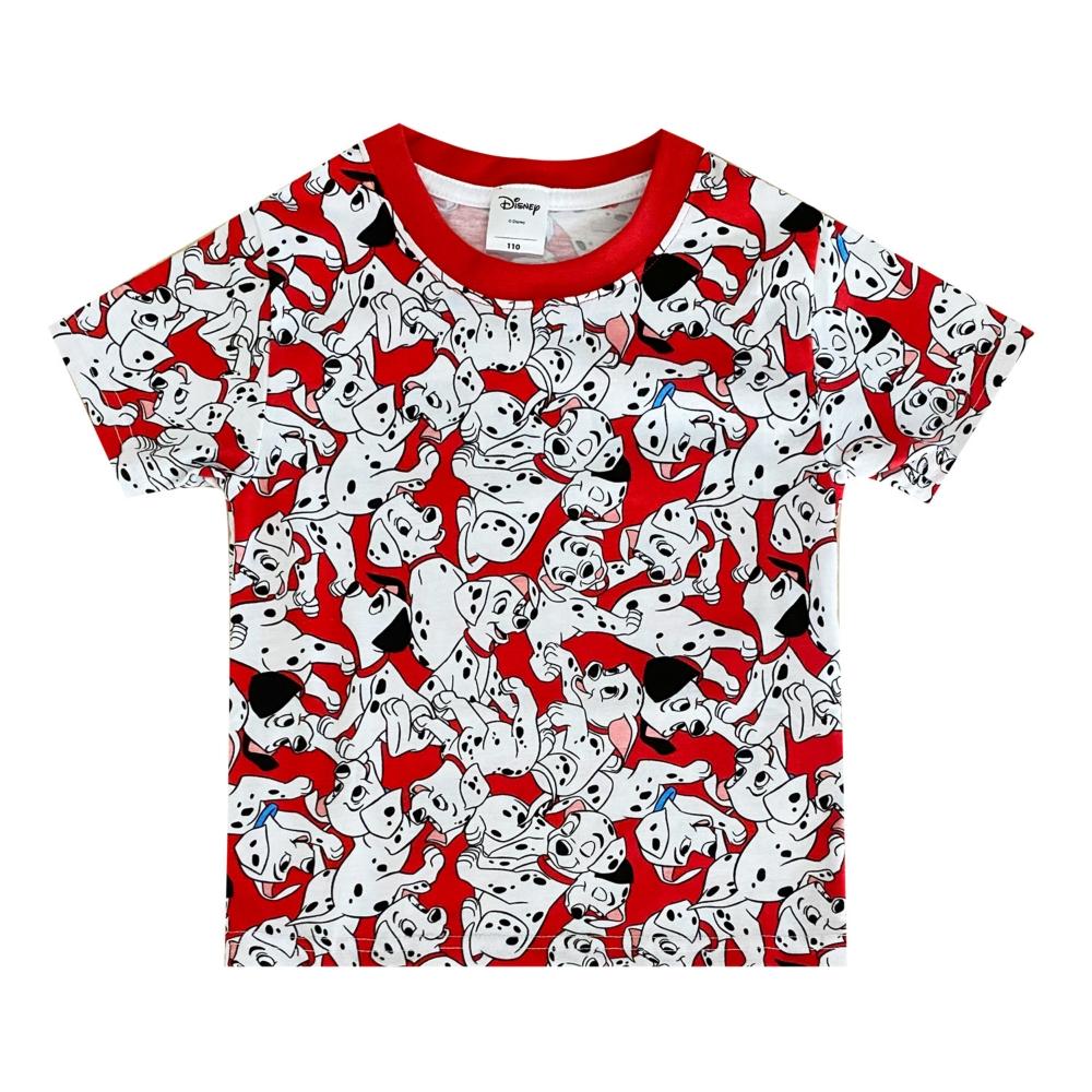 ディズニー 101匹わんちゃん 総柄プリント KIDS Tシャツ (ぎっしり)