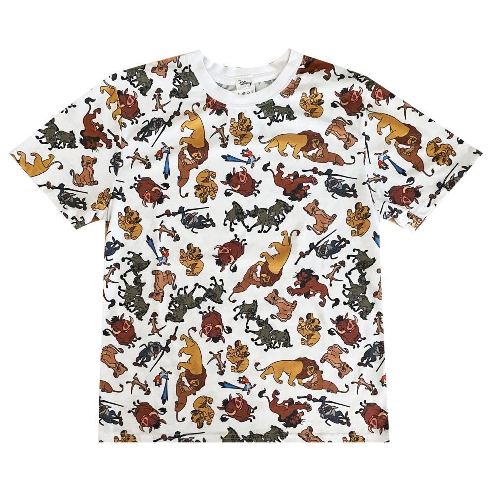 ディズニー ライオンキング 総柄ぎっしり Tシャツ