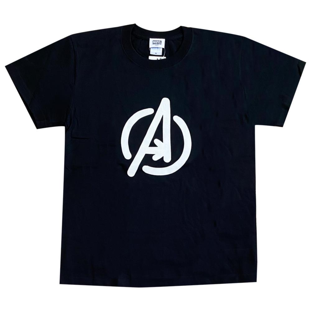 MARVEL マーベル 手書きアベンジャーズ ロゴ Tシャツ